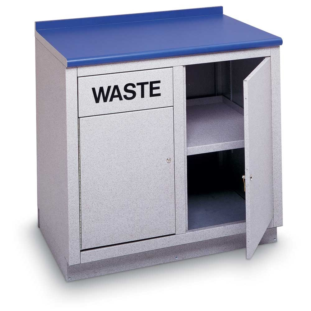 Lobby Table with Waste and Storage Area