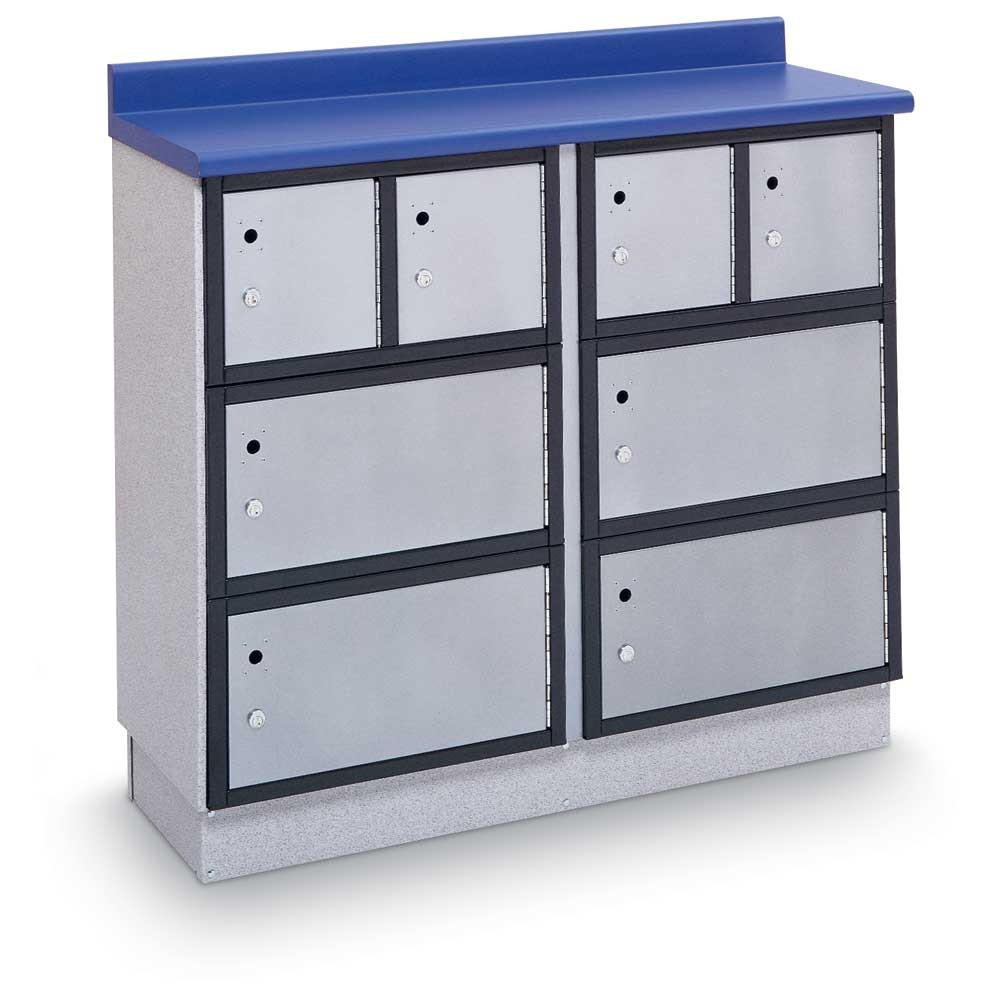 "Secure Storage Locker with Writing Surface, 48""W - CABINET ONLY"