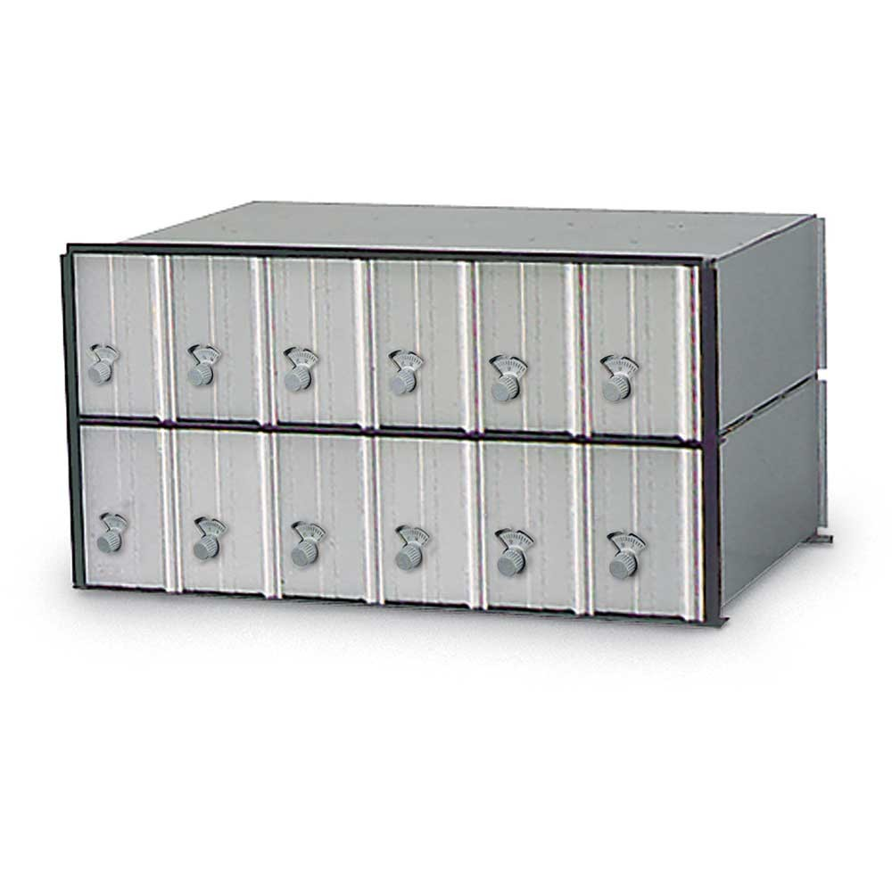 12 Door Rack Ladder PO Box Module - Combination Locks