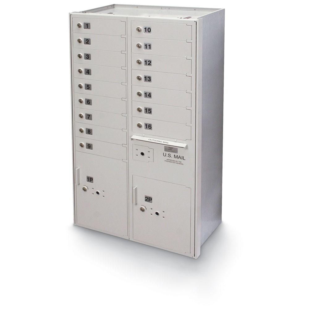 16 Door High Security 4C Horizontal Mailbox