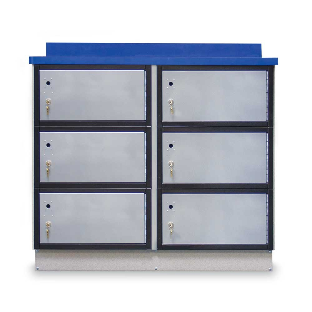 "Secure Storage Locker with Writing Surface, 48""W"