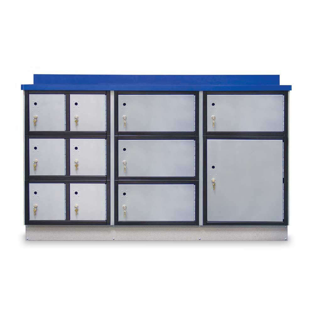 "Secure Storage Locker with Writing Surface, 72""W"