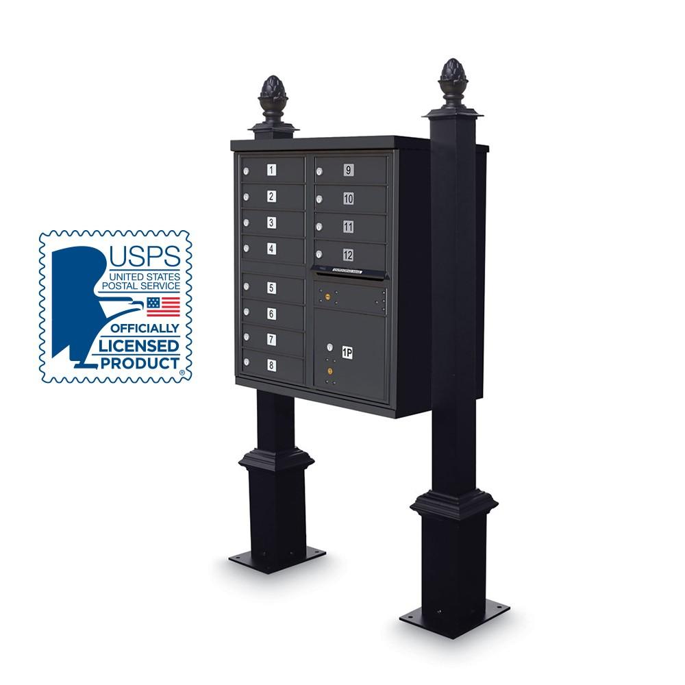 Decorative CBU Square Post with Pinapple Finial